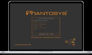 Phantosys Bootscreen auf Laptop